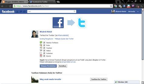 cara membuat twitter di facebook cara membuat profil twitter di facebook khairul abdal