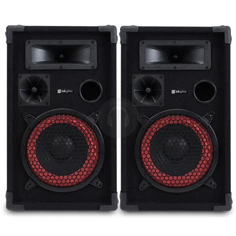 pair mega bass skytec 8 quot speakers dj home audio hi fi pa