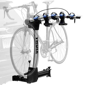 thule swing away bike carrier thule 9027 apex 4 bike swing away trailer hitch receiver