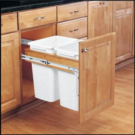 Kitchen Cabinet Pull Out Shelves Home Depot by Rev A Shelf 18 In H X 15 In W X 25 In D 35 Qt