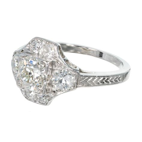deco rings for sale 1930s deco platinum engagement ring for sale at 1stdibs