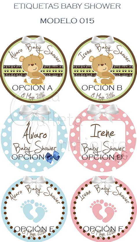 Etiquetas Para Baby Shower by Etiquetas Baby Shower Etiquetas Personalizadas
