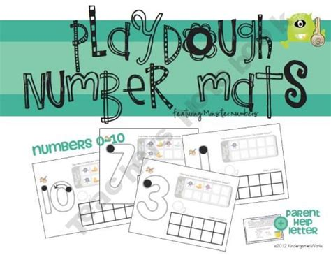 Play Doh Number Mats by Playdough Number Mats Playdough