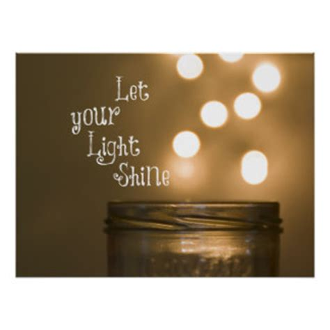 Let Your Light Shine Bible Verse by Bible Verse Light Posters Zazzle
