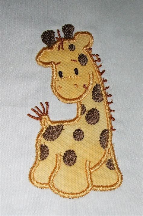 giraffe applique machine embroidery giraffe applique designs and filled design