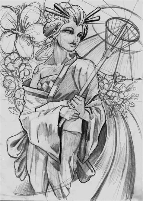 tattoo geisha sketch geisha tattoo ideas and geisha tattoo designs page 46