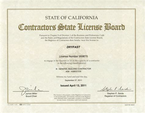 contractors state license board contractors state license board dryfats certification