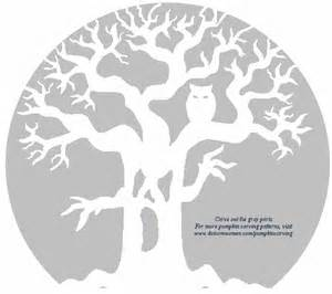 spooky tree pumpkin template ghost tree with owl free pumpkin carving stencil dot