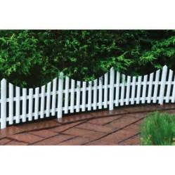 Flower Bed Fencing Dog - 24 quot decorative outdoor picket fence white walmart com