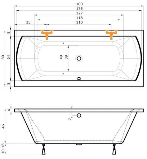 Badewanne Und Dusche In Einem 156 by Badewanne Fenix 180x80 80x180 Acryl Rechteckbadewanne Ebay