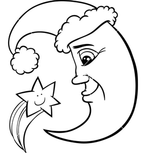 half moon coloring pages