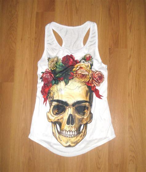 imagenes de calavera frida kahlo blusa camiseta frida kahlo calavera flores pintura m 233 xico