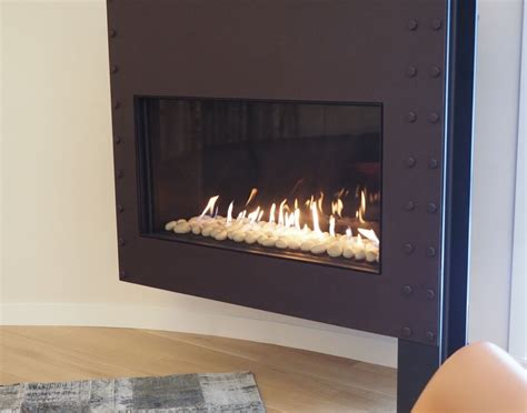 flare front modern frameless fireplace