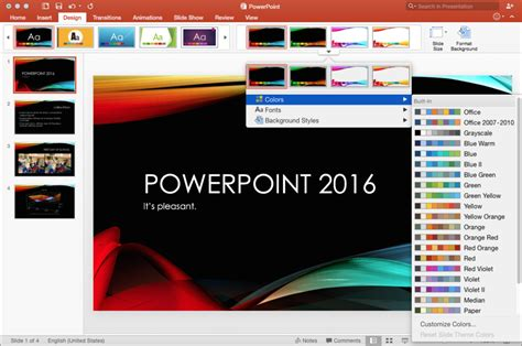 new themes in powerpoint powerpoint 2016 for mac review new interface and features