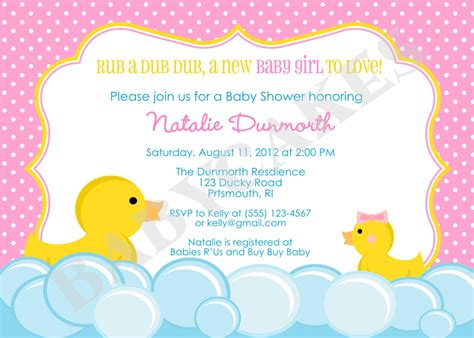 duck baby shower rubber duck baby shower invitation rubber duckie invitation