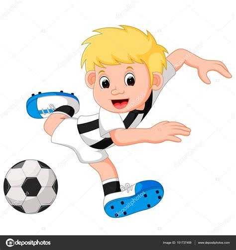 dibujos de niños jugando soccer dibujos animados de ni 241 o jugando al f 250 tbol archivo