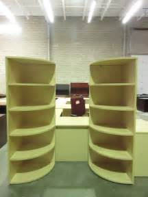 used office furniture des moines lacasse 72 corner bookcases maple jg s