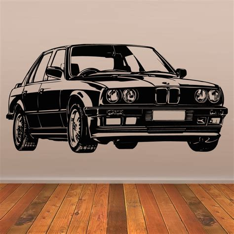 ford mustang home decor retro car wall stickers old ford mustang decal vinyl decor