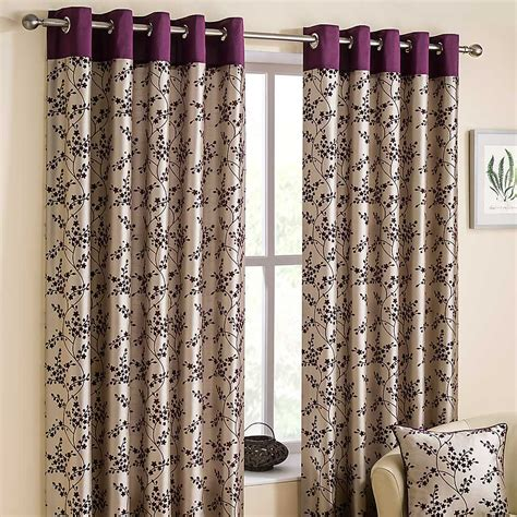 lined curtains flora pair of lined eyelet curtains grattan