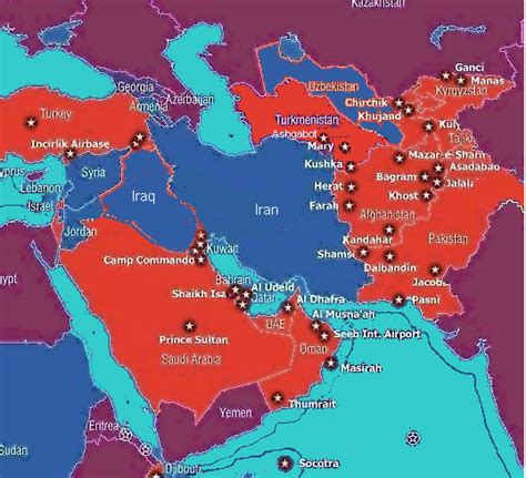 map us bases ring of iranian bases threatens us informed comment