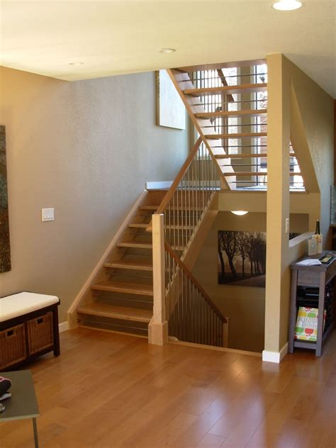 Farmhouse Style House Plans by Custom Made Open Staircase By Dancing Grains Woodworks