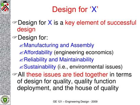Design For Manufacturing Presentation | ppt engineering design ge121 design for x powerpoint