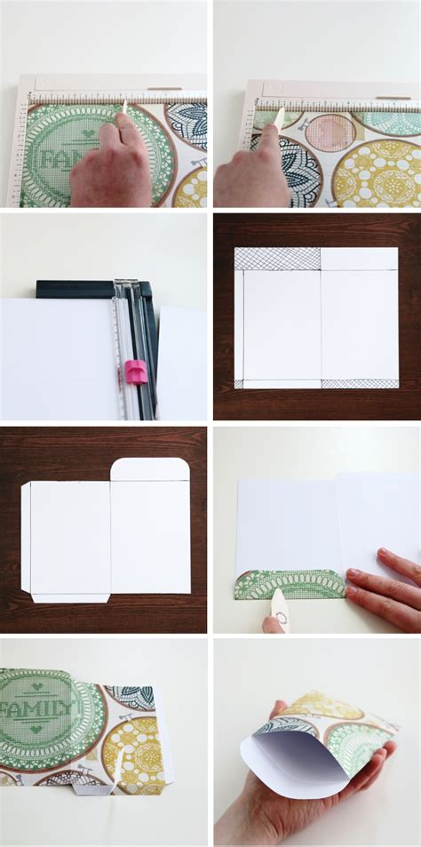 How To Make A Scrapbook With Paper - diy scrapbook paper pocket envelope gathering