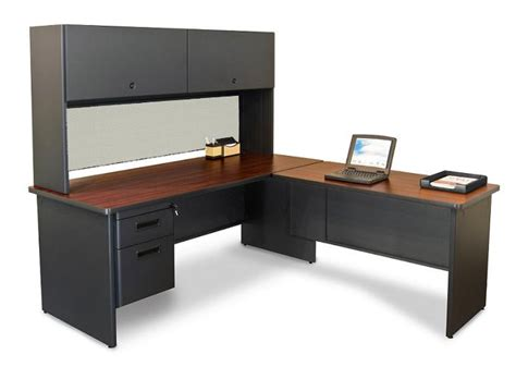 L Shaped Desk With Drawers by Marvel Prnt4 Pronto L Shaped Desk W 1 File Drawer