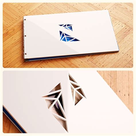 graphic design portfolio book layout exles custom portfolio book white acrylic with cut out from klo