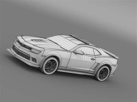 Chevrolet Camaro Z28police chevrolet camaro z28 2015 3d model max obj 3ds