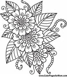 flower coloring pages for adults flower coloring page 41