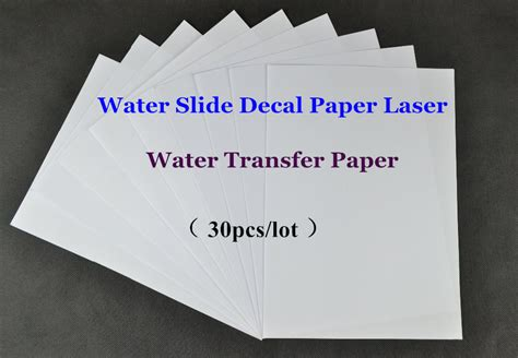 How To Make Water Slide Paper - 30pcs lot a4 clear transparent cheap paper water slide