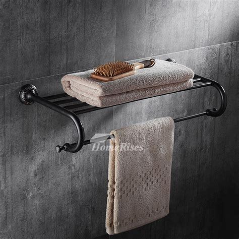 black towel racks bathroom affordable black towel rack wall mount brass orb
