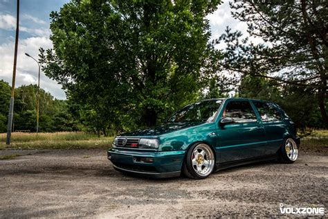 green volkswagen golf vw golf mk3 green clean volxzone