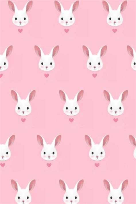 pink pattern background tumblr pink bunny pattern fondos 2 pinterest happy