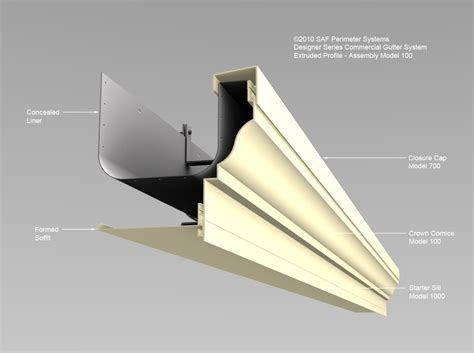 Cornice Gutter commercial gutter systems downspouts saf southern aluminum finishing co inc