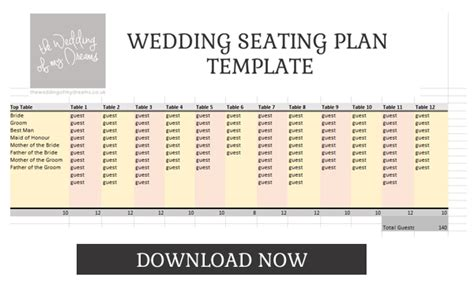 seating planner template wedding table plan template the wedding of my
