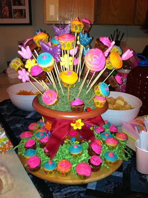 cupcake flower arrangements flower pot mini cupcake arrangement party ideas pinterest
