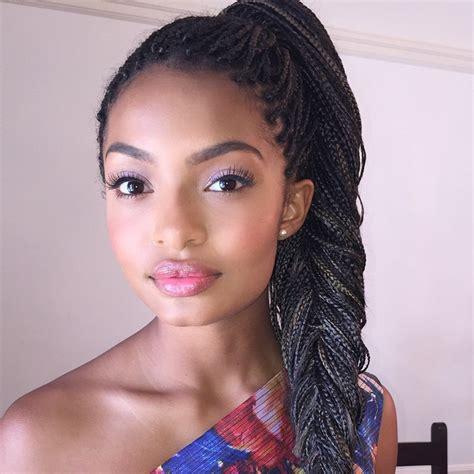 box braids hairstyles for teens blackish yara shahidi braids jj braids pinterest