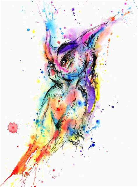 abstract owl by psyca art on deviantart