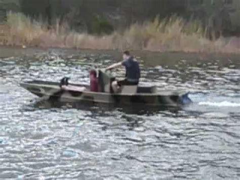 flat bottom boat jet ski motor jet ski jon youtube
