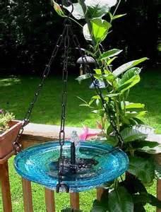 solar bubbler hanging bird bath birdhouses bird