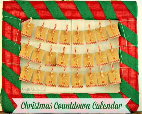 christmas countdown craft countdown calendar diy for crafts unleashed