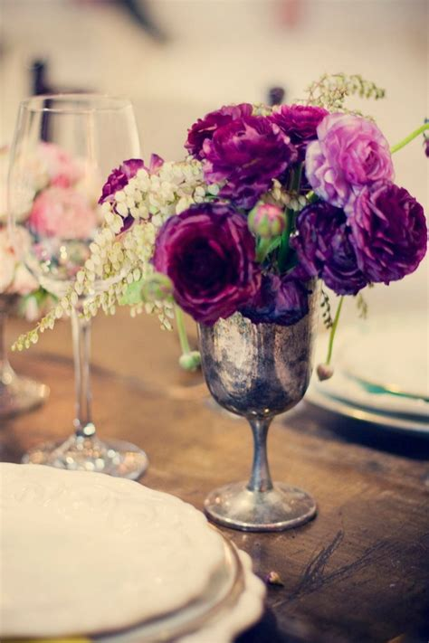 silver centerpieces for table 29 best images about silver metal wedding decor on