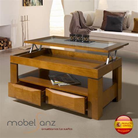 mesas de centro con cajones mesa de centro clasica moderna elevable con cajones y