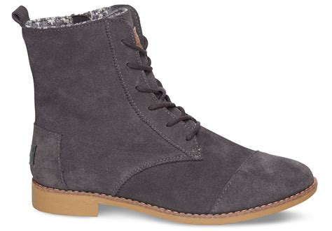 gray suede boots toms grey suede s alpa boots in gray grey
