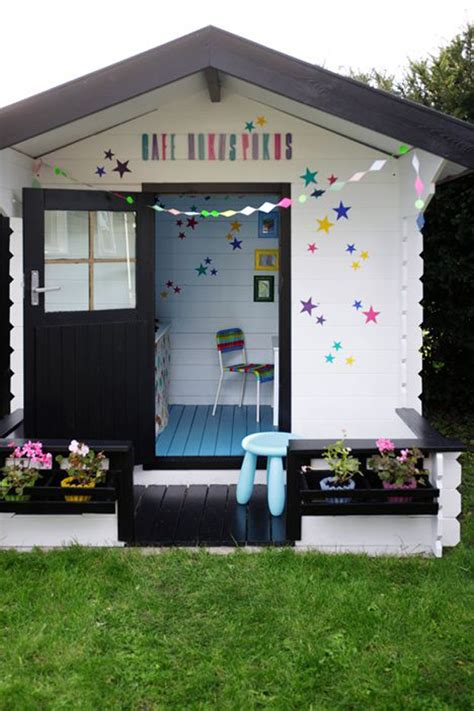 backyard kids house outdoor kids playhouse decor ideas