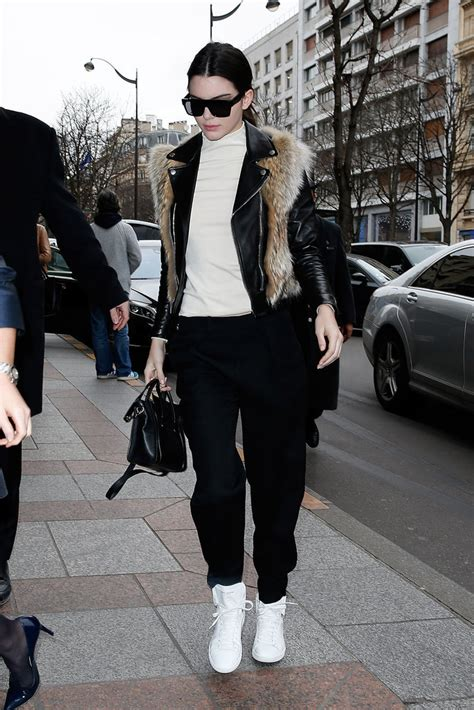 comfortable walking shoes for paris kendall jenner stayed comfortable on the streets of paris