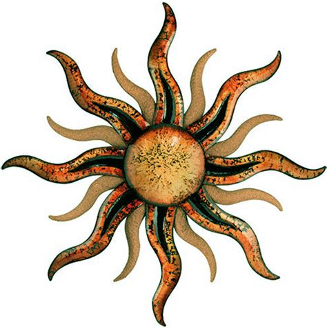 santa fe sun large sunburst metal wall home decor - Metal Sun Wall Decor