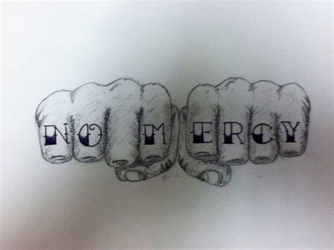 mercy tattoo no mercy sketch by me my sketchpad